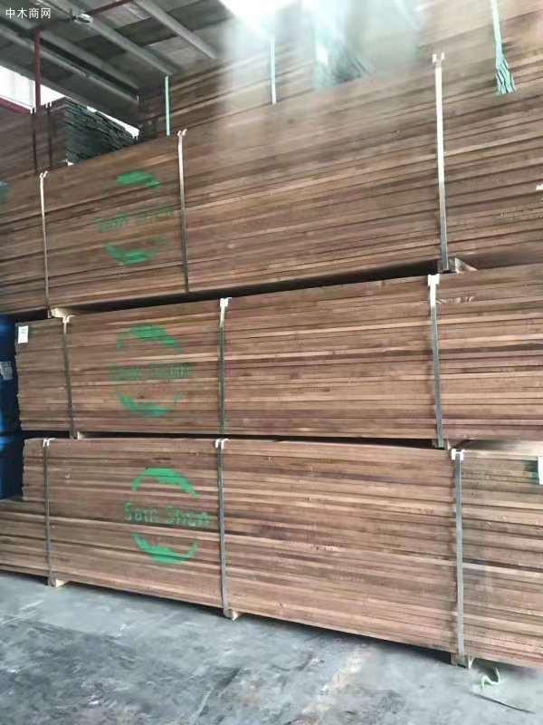 天津进口美国黑胡桃木板材高清视频批发