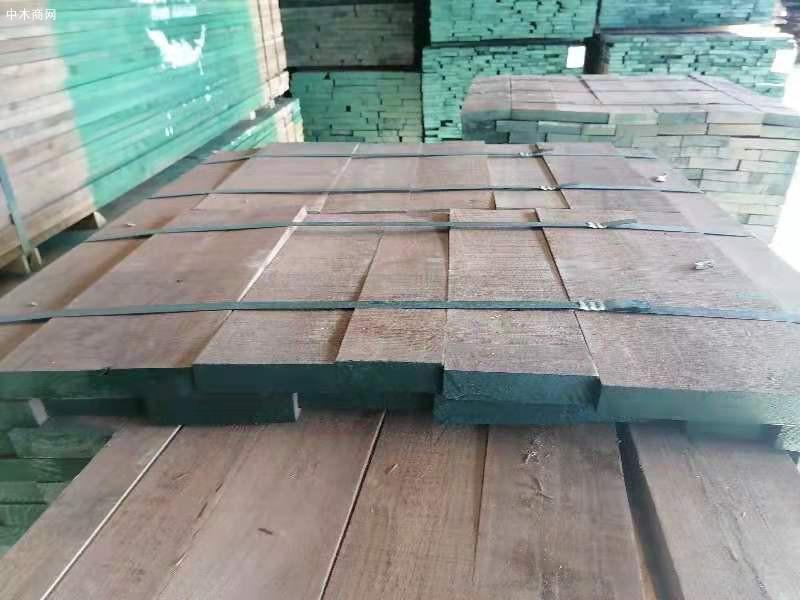 天津山姆木业美国进口黑胡桃木板材仓库高清视频