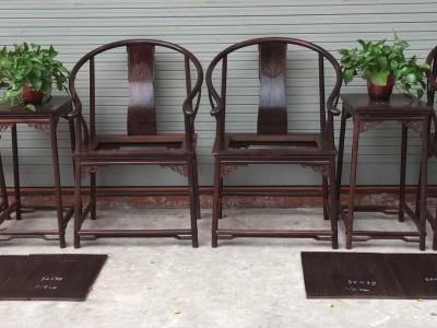 大红酸枝圈椅三件套厂家批发
