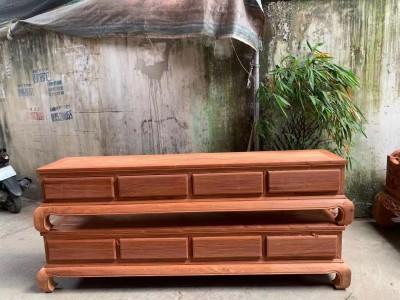 缅甸花梨木电视柜2.2米厂家批发