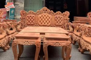 欧式缅甸花梨木沙发10件套批发价格