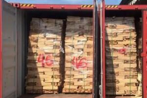 越南:超100柜走私木材集装箱被查获!