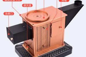 柴煤烤火炉两用回风炉内部结构图