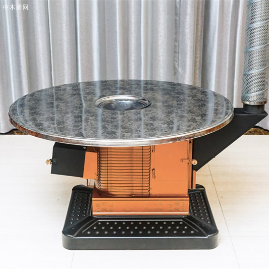 冬季农村室内柴煤两用烤火炉回风炉气化炉节能环保厂家直销批发图片
