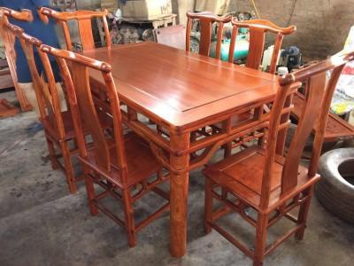 精品缅甸花梨木长方形餐桌各种花色款式长方形餐桌批发