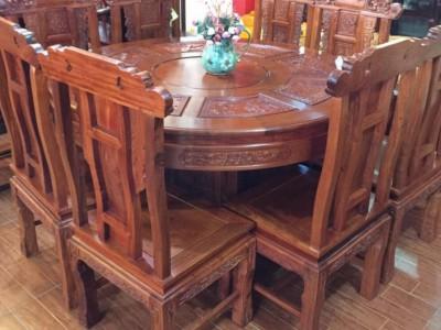 精品缅甸花梨园餐桌各种花色款式元餐桌批发