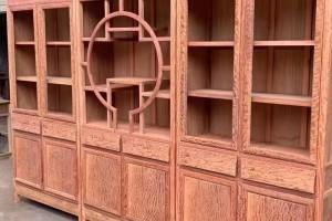 缅甸花梨大果紫檀三组合书柜价格多少钱?
