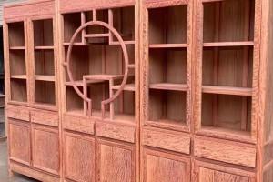 缅甸花梨大果紫檀三组合书柜高清图片