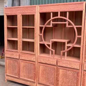 缅甸花梨大果紫檀三组合书柜十大品牌