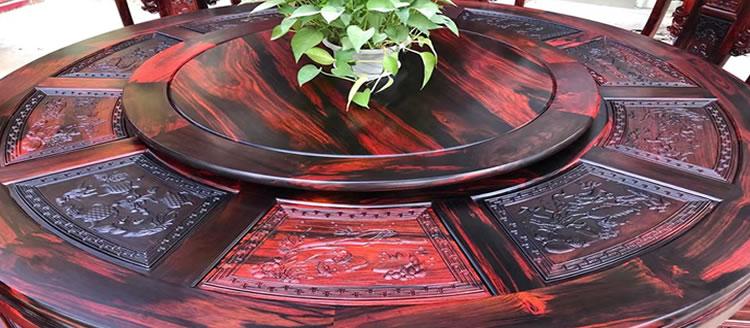 大红酸枝圆餐桌