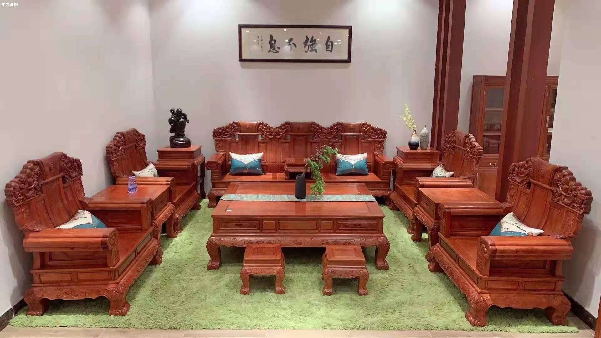 缅甸花梨家具多少钱一套报价