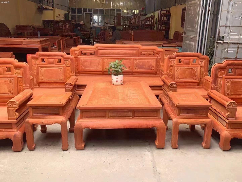 缅甸花梨木沙发10件套价格看点图片