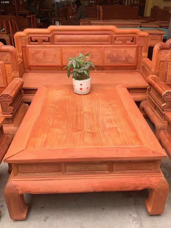 缅甸花梨木沙发10件套价格看点厂家
