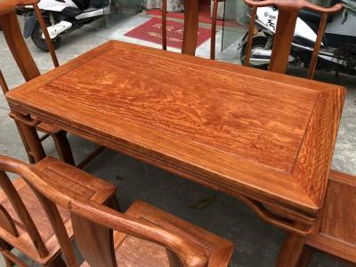 缅甸花梨木餐桌七件套多少钱?