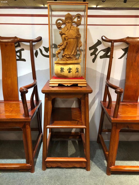 匠心居精工制做缅甸花梨官帽椅三件套高清视频价格