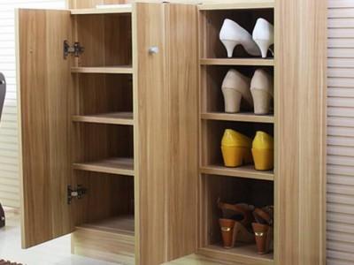 浅胡桃收纳柜,门厅柜,白榉鞋柜,浅胡桃实木复古家具套装组合