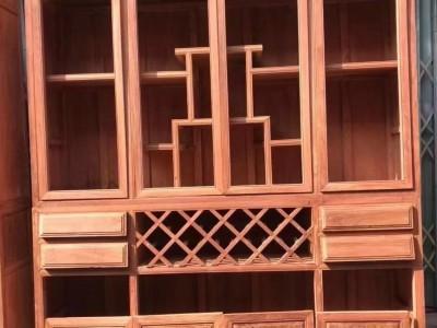 现代缅甸花梨木书柜多少钱?