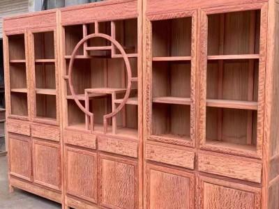 缅甸花梨大果紫檀三组合书柜批发厂家