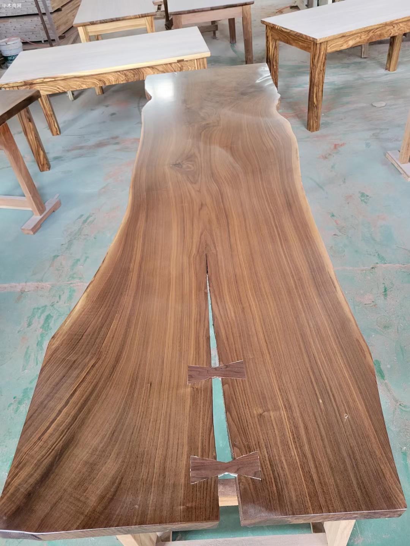 美国黑胡桃木大板生产厂家价格
