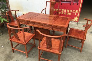 缅甸花梨木茶桌怎么保养?