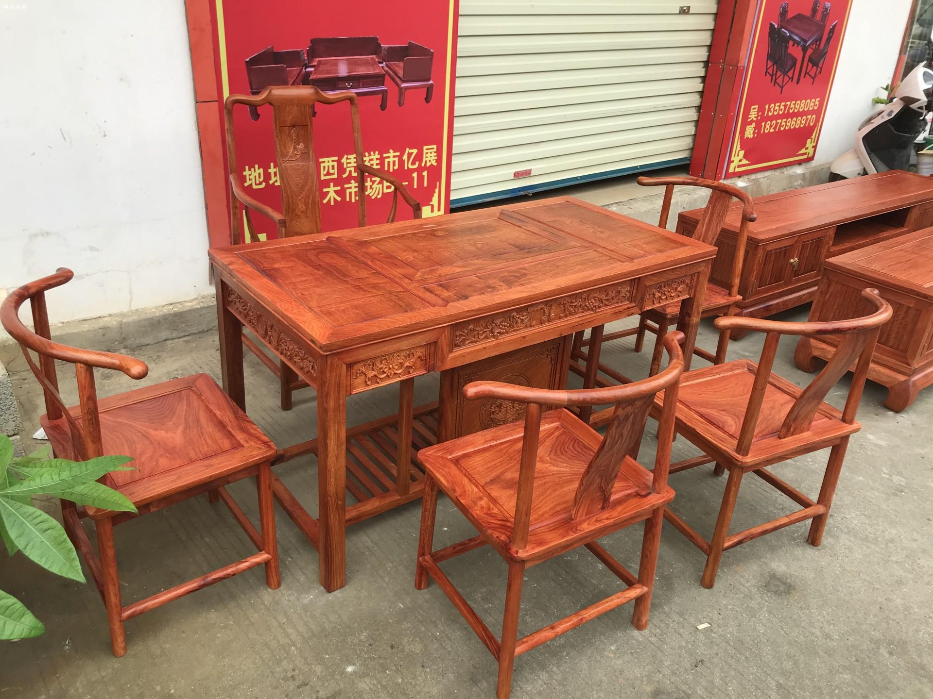 缅甸花梨木茶桌茶台厂家批发价格