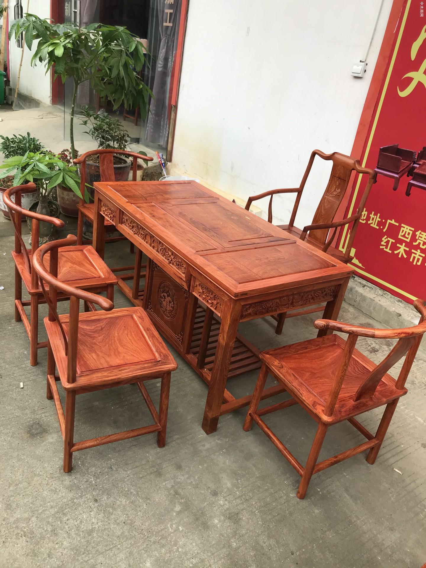 缅甸花梨木茶桌茶台厂家批发品牌