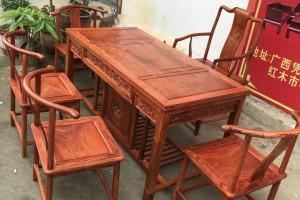 缅甸花梨木大果紫檀茶桌价格图片