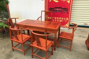 缅甸花梨木茶桌图片价格