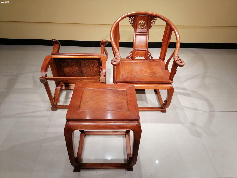 大果紫檀皇宫椅三件套图片