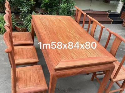 缅花长方形餐桌生产厂家