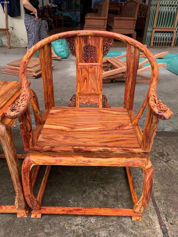 越南黄花梨黄宫椅批发厂家图片