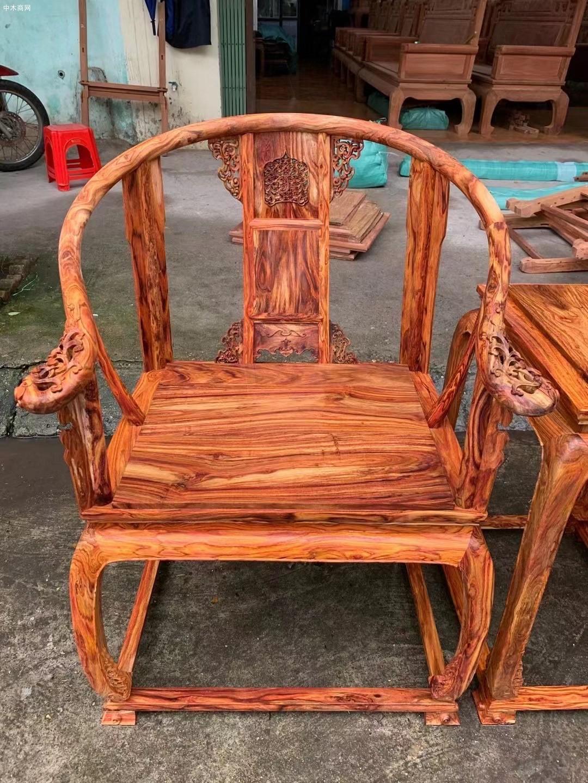 越南黄花梨黄宫椅批发厂家价格