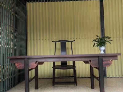 大红酸枝画案桌椅一套价格多少钱?