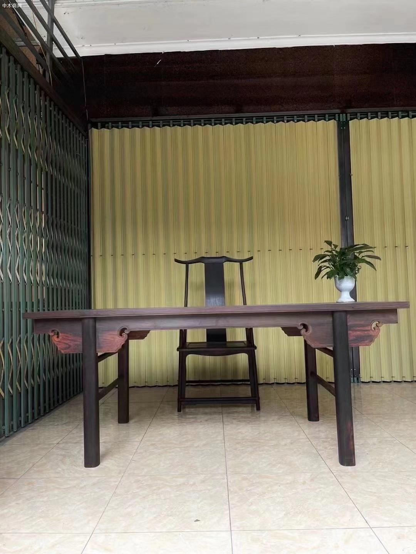 大红酸枝画案桌椅一套价格多少钱