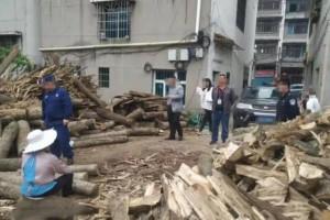 凯里炉山一木材加工厂非法经营被拆除!