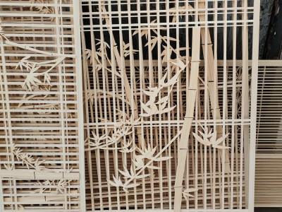 实木屏风,中式花格,日本进口桧木材料