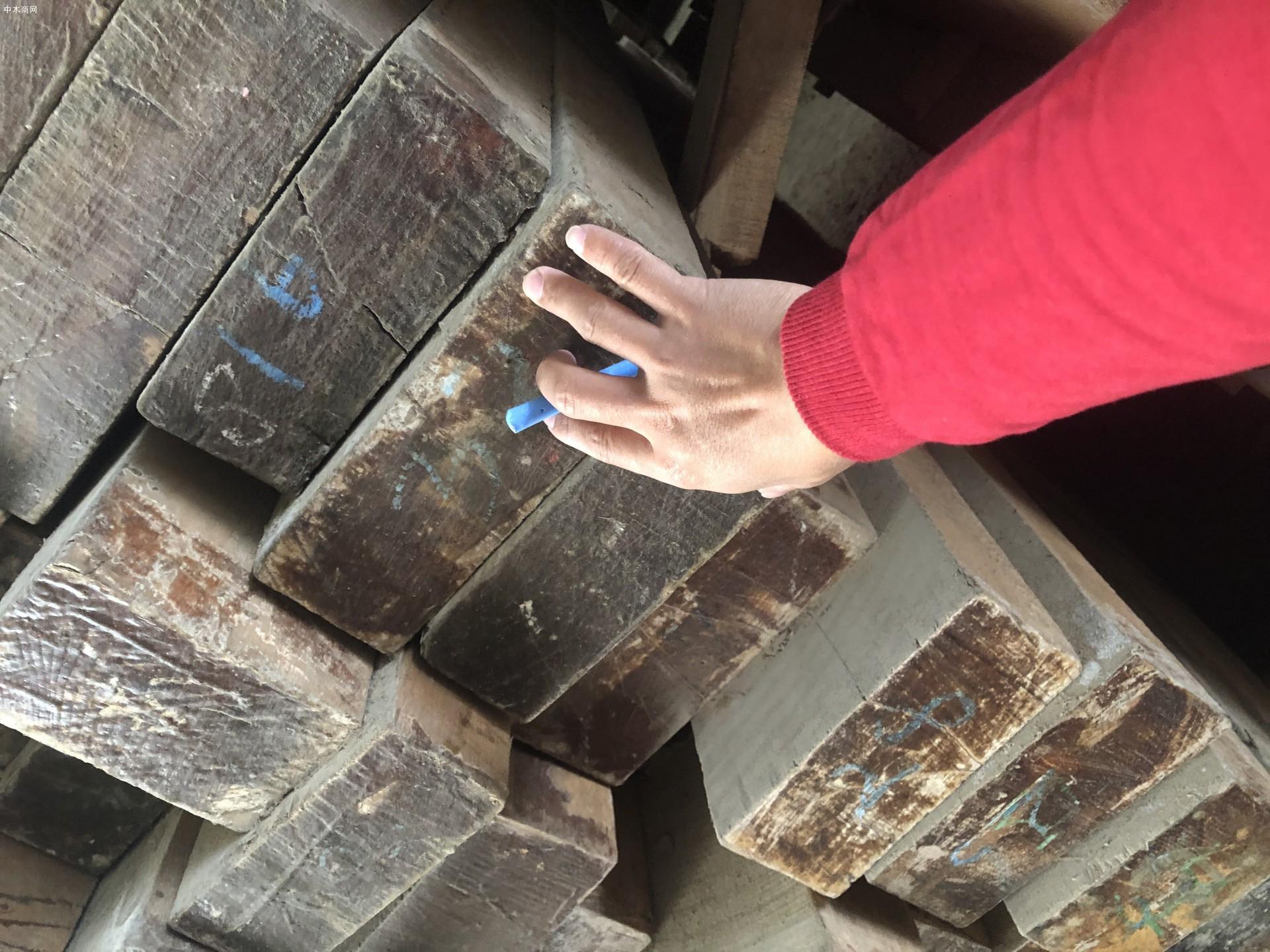 缅甸柚木板方材高清视频