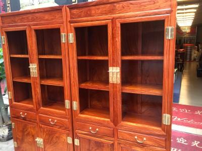 缅甸花梨国工精品书柜生产厂家
