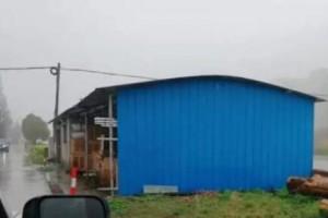 启东一处违法木材堆放及加工厂被全部拆除