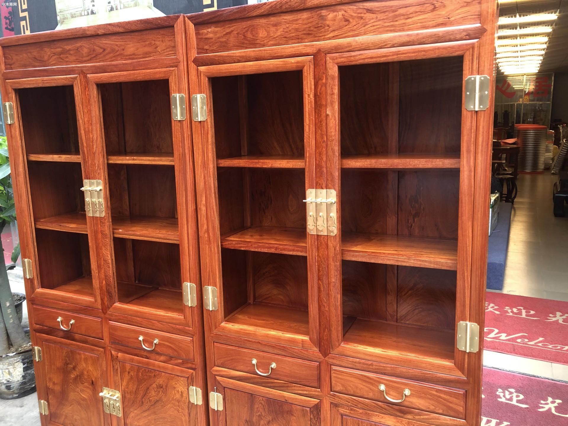 缅甸花梨木家具书柜优缺点