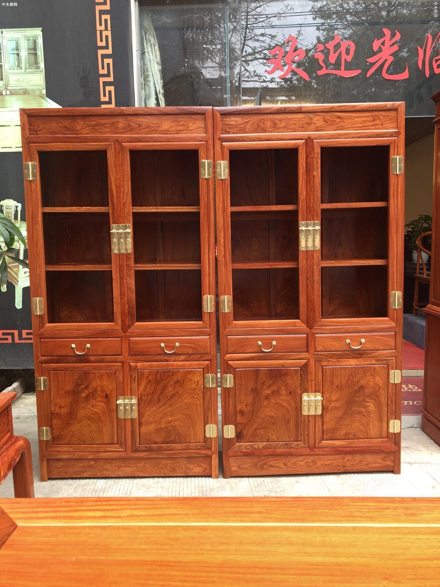 缅甸花梨木家具书柜优缺点价格