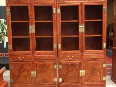 缅甸花梨木家具书柜厂家直销