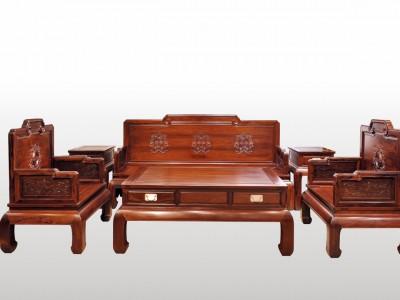 手工雕刻精雕细琢珍藏品顶级花枝宝座沙发113七件套厂家直销