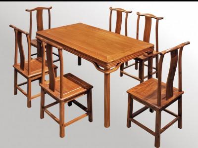 精品缅甸花梨木餐桌七件套价格大概是多少?