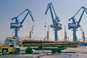 首艘加拿大原木船靠泊长兴岛港