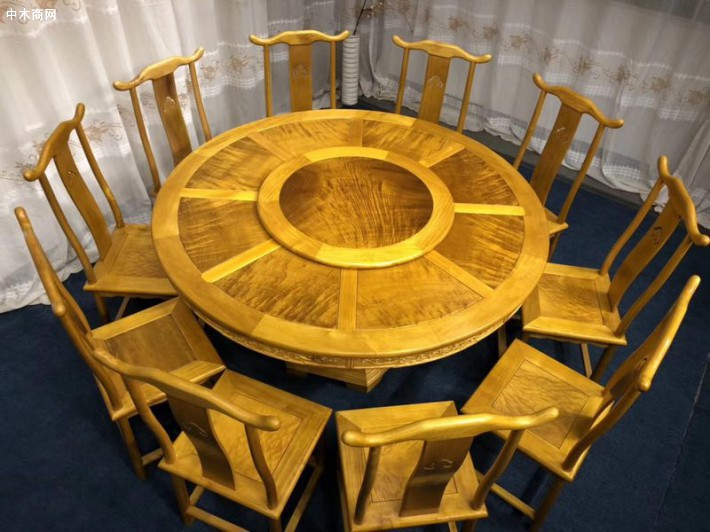 求购:金丝楠圆餐桌1.8米