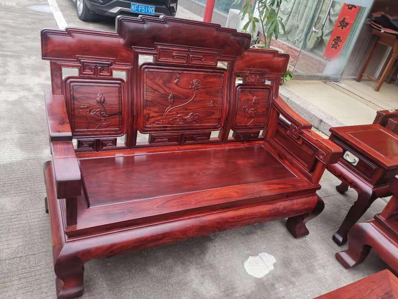 白酸枝奥氏黄檀步步高123沙发6件套产品价格是多少图片