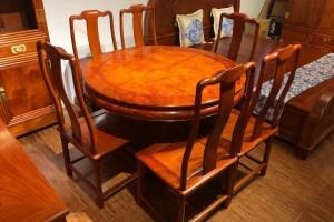 缅甸花梨明式精品餐桌七件套多少钱