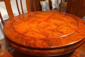 缅甸花梨圆餐桌图片价格