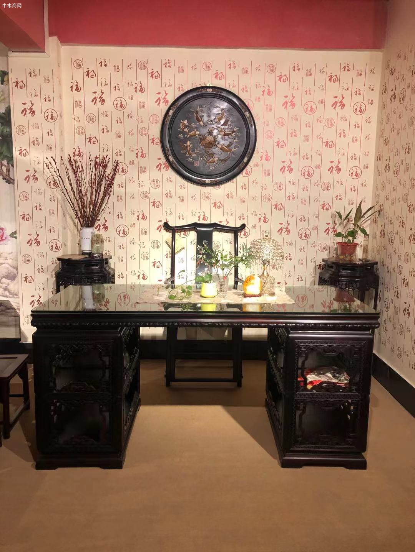 大红酸枝交趾黄檀书桌椅的优点和好处